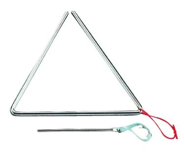 Peace t-1g6 triangolo in metallo con battente 15 cm