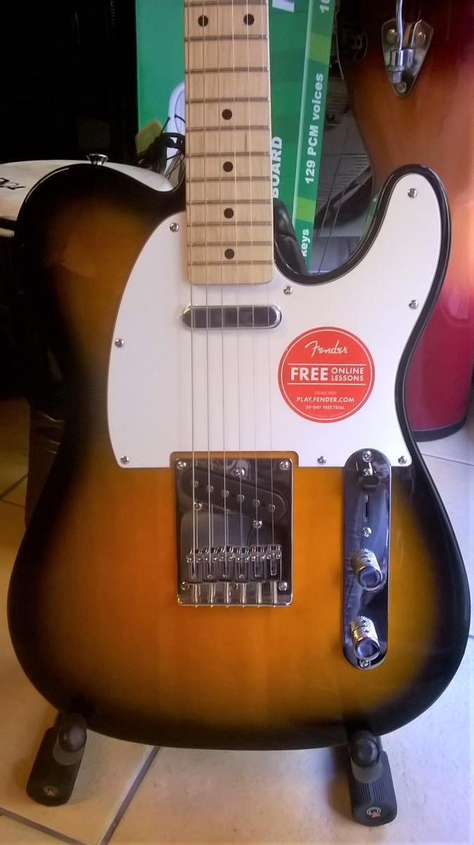 Fender squier affinity telecaster electric guitar  2tone