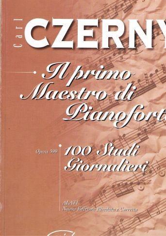 Czerny il primo maestro di pianoforte 100 studi giornalieri op 599