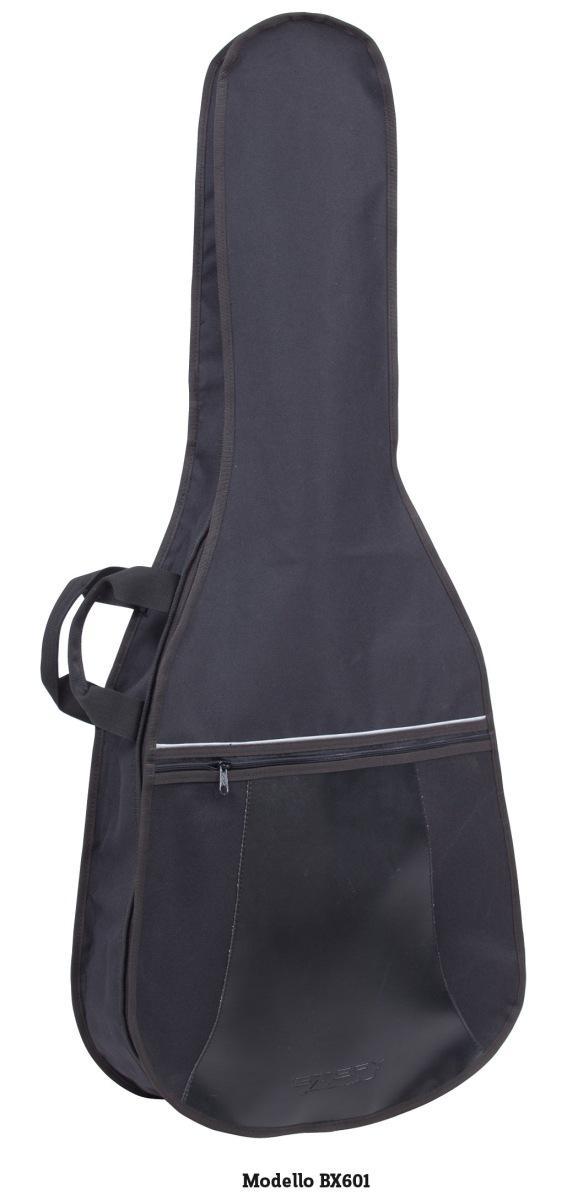 Stefy line bx601 borsa chitarra classica 4/4 nera