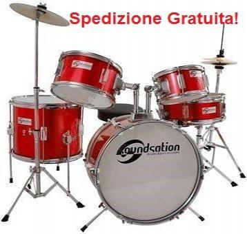 Soundsation jdk516-mr batteria junior 5 pezzi rossa