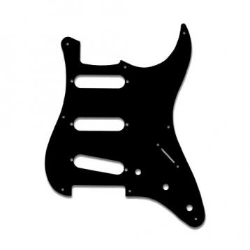 Soundsation parts sp-1b mascherina per chitarra stratocaster, monostrato, black