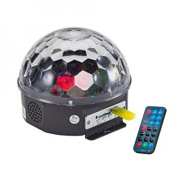 SOUNDSATION CB-630 SEMI-SFERA LUMINOSA 6 LED DA 3W CON PLAYER MP3 E TELECOMANDO<br />