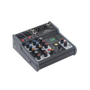 SOUNDSATION miomix 202Ufx mixer 4 canali  con Multieffetto Digitale e Interfaccia Audio I/O USB