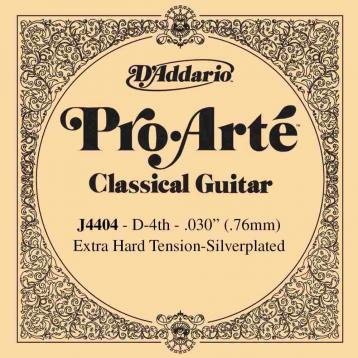 D'addario pro arte j4404 iv corda re extra hard tension
