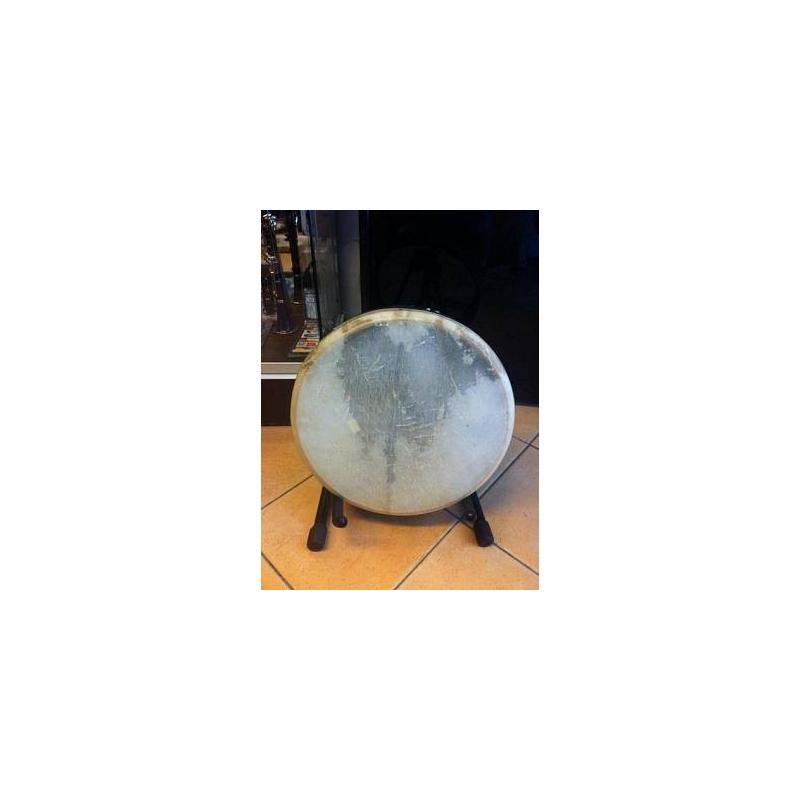 Frame drum tamburo 16'' 40x9 accordabile made in pakistan pelle naturale