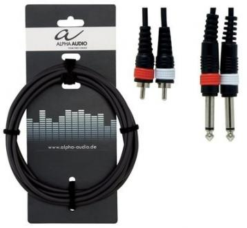 Alpha audio cavo 2 jack mono 6,3 mm - 2 rca  3 mt