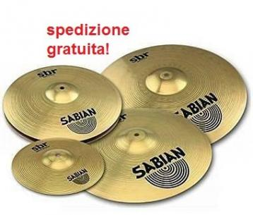 Sabian sbr5003fbt set piatti performance con splash in omaggio
