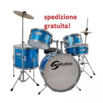 Soundsation jdk516-eb batteria junior 5 pezzi blu
