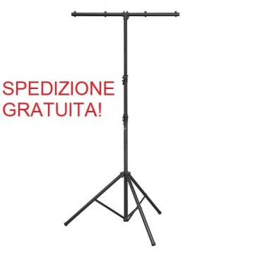 Soundsation ls-200 stand luci con t-bar in alluminio anodizzato nero