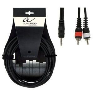 Alpha audio cavo base 1 jack stereo 3,5mm / 2 rca 3m